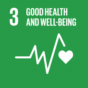 Logo for the 3rd sustainable development goal of the United Nation : good health and well-being