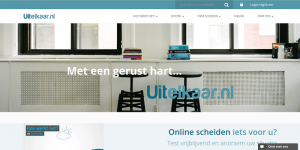 Screenshot of uitelkaar.nl website, the online dispute resolution platform of justice42, an investment of SI² Fund